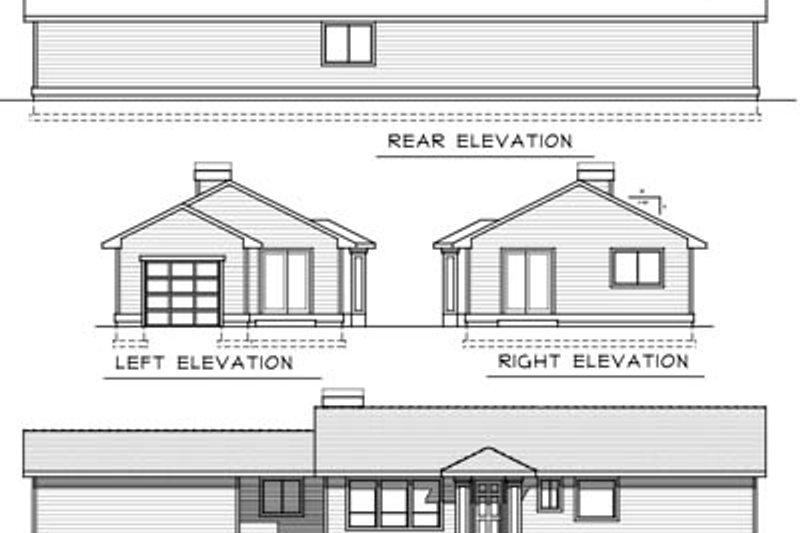 Ranch Exterior - Rear Elevation Plan #100-450 - Houseplans.com