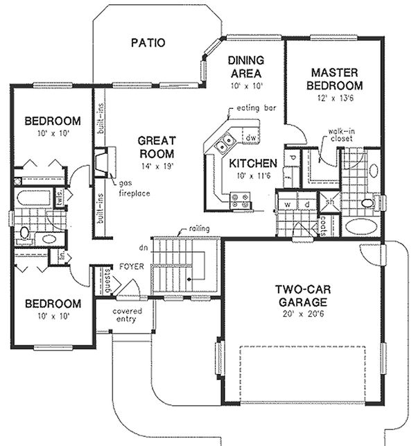 Traditional Floor Plan - Main Floor Plan Plan #18-1032