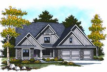 Home Plan - Cottage Exterior - Front Elevation Plan #70-880