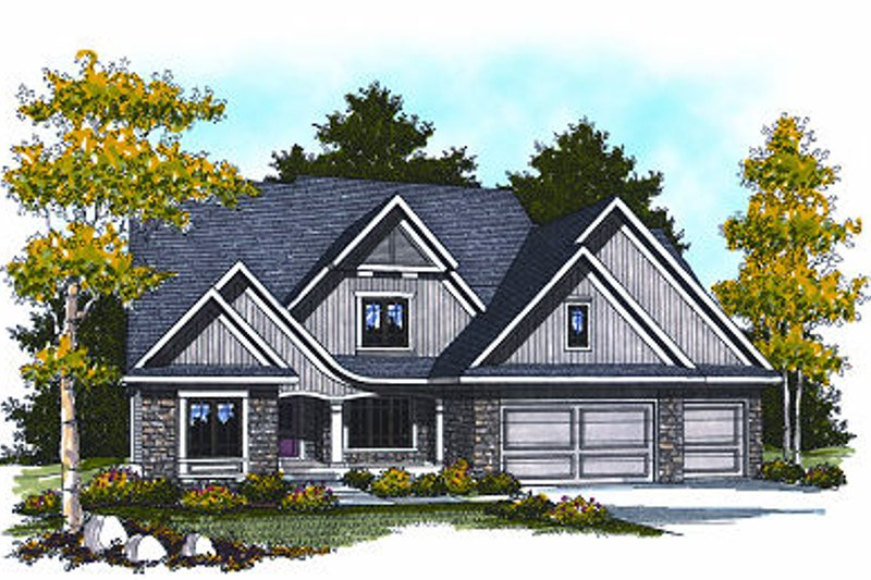 Cottage Exterior - Front Elevation Plan #70-880