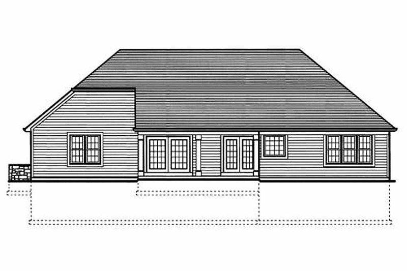 Traditional Exterior - Rear Elevation Plan #46-413 - Houseplans.com