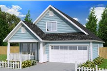 Cottage Exterior - Front Elevation Plan #513-2088