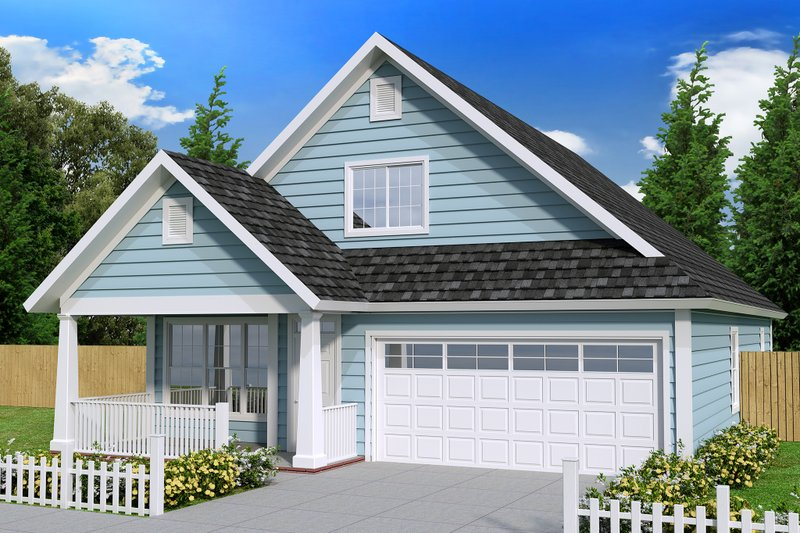 Cottage Exterior - Front Elevation Plan #513-2088