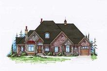 House Plan Design - European Exterior - Front Elevation Plan #5-295