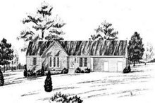 House Plan Design - Traditional Exterior - Front Elevation Plan #36-399