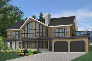 Architectural House Design - Contemporary Exterior - Front Elevation Plan #23-2066
