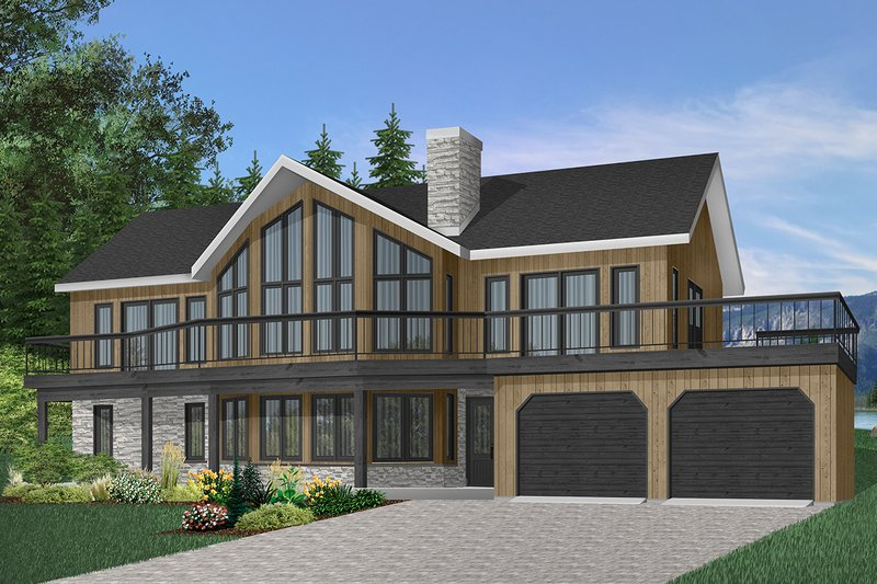 Dream House Plan - Contemporary Exterior - Front Elevation Plan #23-2066