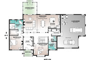 Craftsman Style House Plan - 4 Beds 4.5 Baths 4177 Sq/Ft Plan #23-832 Floor Plan - Main Floor