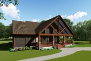 Craftsman Style House Plan - 4 Beds 3 Baths 2663 Sq/Ft Plan #923-113 Exterior - Rear Elevation