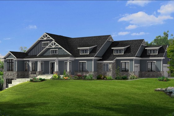Craftsman Exterior - Front Elevation Plan #1057-27