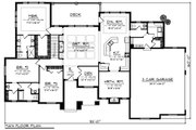 Ranch Style House Plan - 3 Beds 2.5 Baths 2840 Sq/Ft Plan #70-1281 Floor Plan - Main Floor Plan