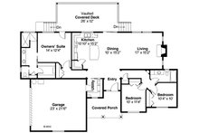 Ranch Floor Plan - Main Floor Plan Plan #124-883