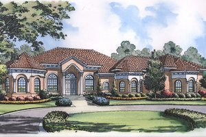European Exterior - Front Elevation Plan #417-400