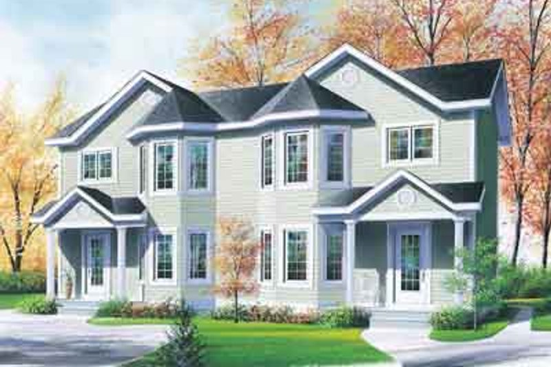 European Exterior - Front Elevation Plan #23-514