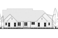 Farmhouse Exterior - Rear Elevation Plan #1067-4