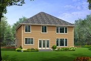 Traditional Style House Plan - 3 Beds 2.5 Baths 2960 Sq/Ft Plan #132-136 Exterior - Rear Elevation