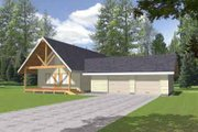 Country Style House Plan - 2 Beds 2 Baths 1600 Sq/Ft Plan #117-450