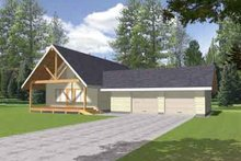 Dream House Plan - Country Exterior - Front Elevation Plan #117-450