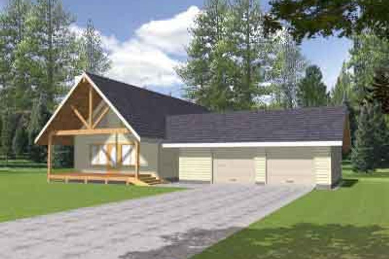 Country Exterior - Front Elevation Plan #117-450