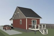 Bungalow Style House Plan - 1 Beds 1 Baths 680 Sq/Ft Plan #79-308 Exterior - Rear Elevation