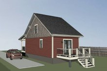 Home Plan - Bungalow Exterior - Rear Elevation Plan #79-308