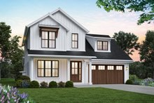 Home Plan - Contemporary Exterior - Front Elevation Plan #48-1033