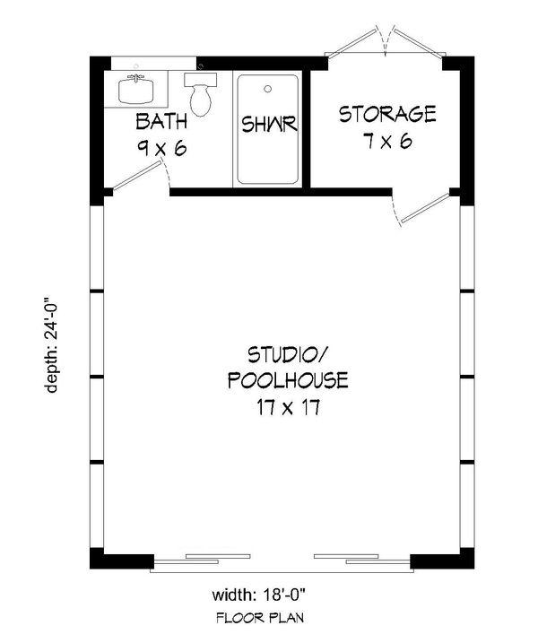 Dream House Plan - Modern Floor Plan - Main Floor Plan #932-182