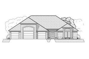 Ranch Exterior - Front Elevation Plan #65-371