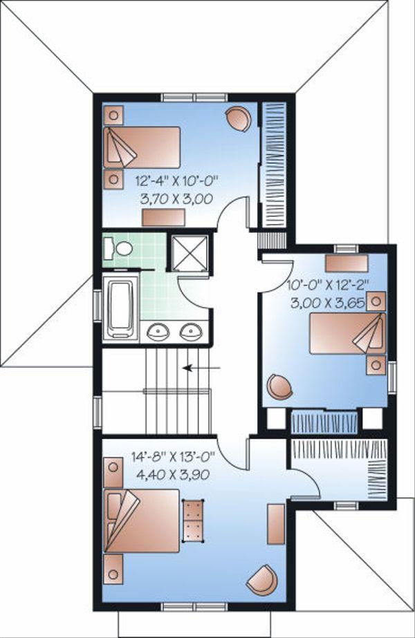 Farmhouse Floor Plan - Upper Floor Plan Plan #23-741