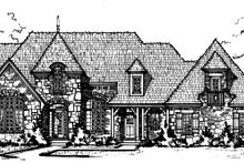 European Exterior - Front Elevation Plan #20-2203