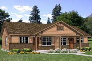 Craftsman Exterior - Front Elevation Plan #116-286