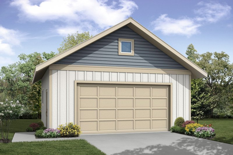 Traditional Style House Plan - 0 Beds 0 Baths 576 Sq/Ft Plan #124-1039