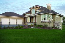 Dream House Plan - Traditional Exterior - Front Elevation Plan #56-595