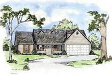 Traditional Exterior - Front Elevation Plan #36-118