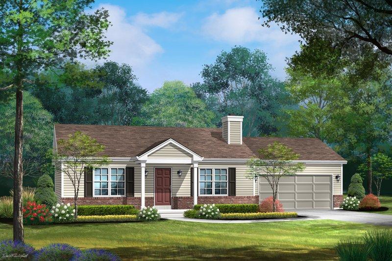 House Blueprint - Ranch Exterior - Front Elevation Plan #22-631