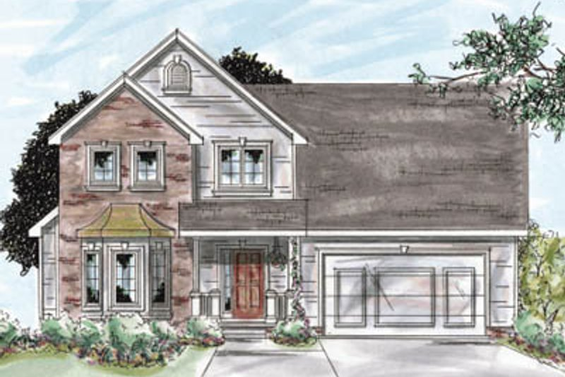 Traditional Exterior - Front Elevation Plan #20-1287