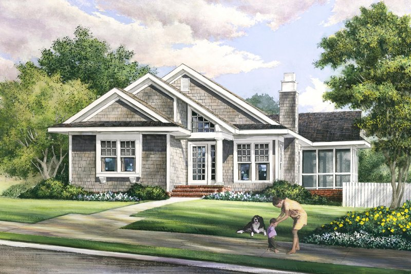 Bungalow Style House Plan - 3 Beds 2 Baths 1504 Sq/Ft Plan #137-270