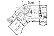 Country Style House Plan - 3 Beds 2.5 Baths 1709 Sq/Ft Plan #314-203 Floor Plan - Main Floor Plan