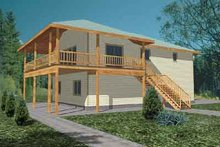 House Plan Design - Traditional Exterior - Front Elevation Plan #117-347