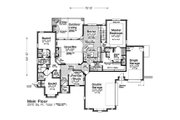 European Style House Plan - 3 Beds 2.5 Baths 2370 Sq/Ft Plan #310-1281 Floor Plan - Main Floor
