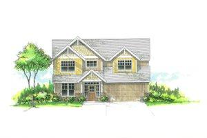 Craftsman Exterior - Front Elevation Plan #53-487