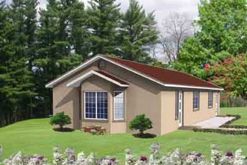Ranch Style House Plan - 2 Beds 1 Baths 1028 Sq/Ft Plan #1-147