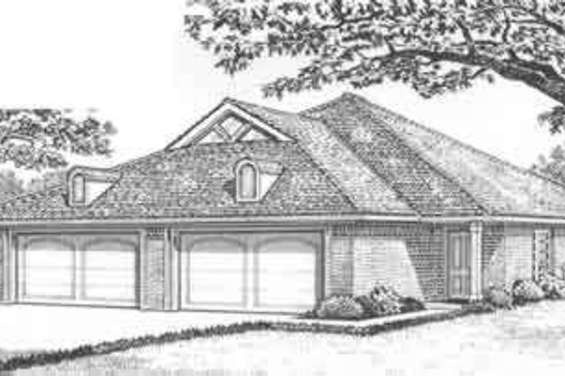 Traditional Style House Plan - 3 Beds 2 Baths 2482 Sq/Ft Plan #310-443 Exterior - Front Elevation