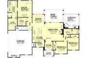 European Style House Plan - 3 Beds 2 Baths 1953 Sq/Ft Plan #430-118 Floor Plan - Main Floor