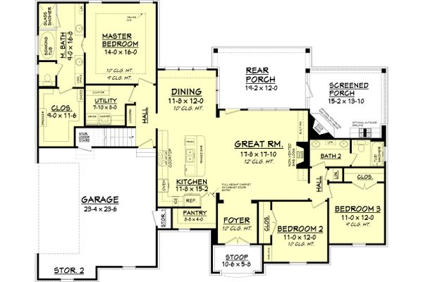 European Floor Plan - Main Floor Plan Plan #430-118
