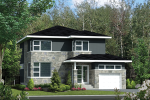 Contemporary Exterior - Front Elevation Plan #25-4574