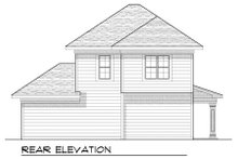 Home Plan - Bungalow Exterior - Rear Elevation Plan #70-969
