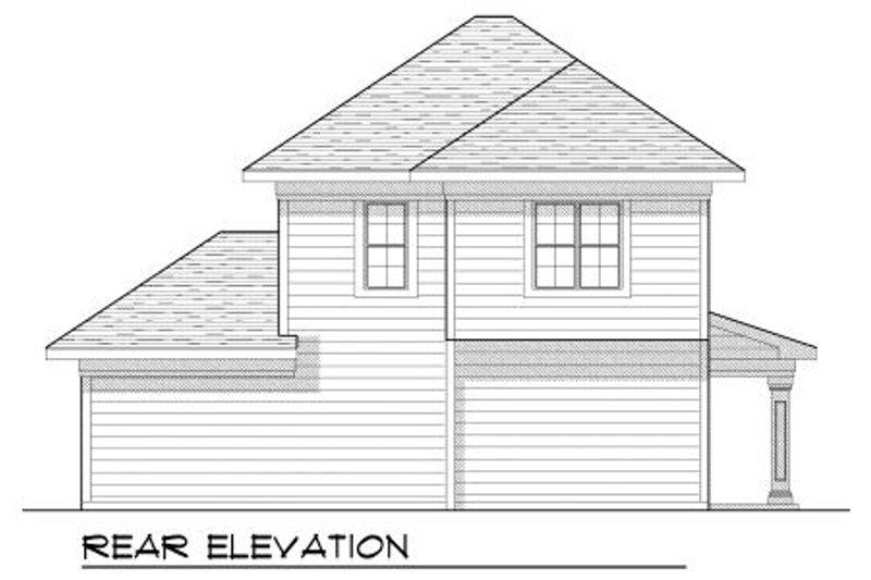 Bungalow Exterior - Rear Elevation Plan #70-969 - Houseplans.com