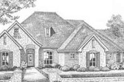 European Style House Plan - 4 Beds 3 Baths 2299 Sq/Ft Plan #310-360 Exterior - Front Elevation