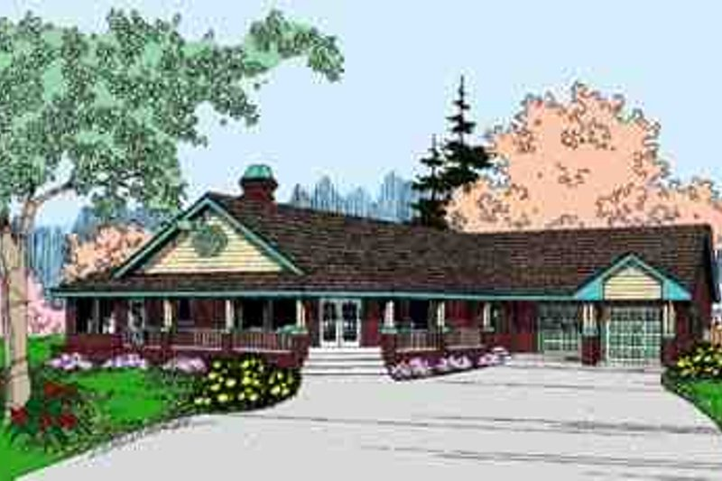 Country Exterior - Front Elevation Plan #60-618